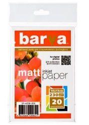 Бумага BARVA Матовая (IP-A230-205) 10x15 20 л
