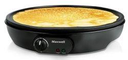 Блинница Maxwell MW-1970 BK / 1000W / антипригарное покрытие / диаметр жарочной поверхности 30см / Black