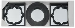Зеркало EVG BIN 1124417 BLACK set 3