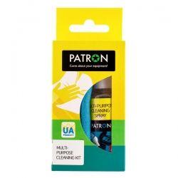 НАБОР ДЛЯ ОЧИСТКИ ОРГТЕХНИКИ PATRON 2в1 (Спрей 50мл + Салфетка) F3-016