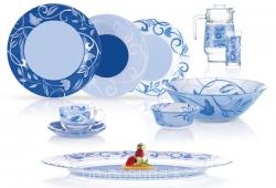 Lum.Plenitude Blue.Сервіз столовий-46пр.Е N4871