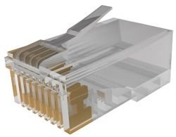 Сетевое оборудование MOLEX Коннектор RJ45 UTP 5e WE8E, 1,27 мкм золота