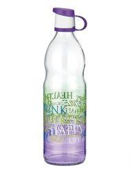 Бутылка RENGA Letra PURPLE /1 л д/воды стекло (151924 PUR)