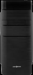 "Корпус LogicPower 2001 Black, 400W 80mm, ATX, mATX, Flex-ATX Midi-Tower, 2xUSB2.0, Audio, 4x5,25"", 1x3,5"", 5xHDD, 7xPCI"
