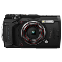 Цифровая камера OLYMPUS TG-6 черный (Waterproof - 15m; GPS; 4K; Wi-Fi)