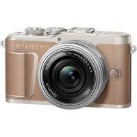 Цифровая камера OLYMPUS E-PL10 14-42 mm Pancake Zoom Kit коричневый/серебристый
