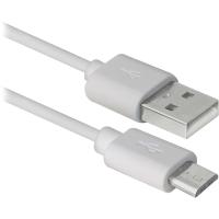 кабель DEFENDER (87468)USB08-10BH USB(AM)-MicroBM белый 3м, blister