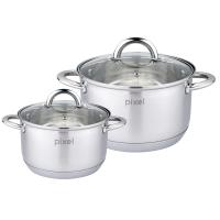 Набор посуды PIXEL  Набор 4 пр. кастрюля(1.9л+3.6л) (PX-6001)