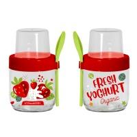 Банка HEREVIN Fruit-Yoghurt с ложкой и контейнером 0.425 л (131615-000)