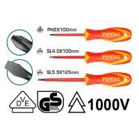 Набор TOTAL THTIS036 отверток электрика Sl, Ph, 3шт.