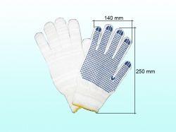Перчатки робочі 520 білі з синьою ПВХ крапкою ТМ DOLONI