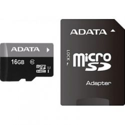 A-Data 16Gb UHS-I Class10 / SD адаптер / AUSDH16GUICL10-RA1