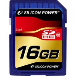 Карта памяти 16Gb SDHC class 10 Silicon Power (SP016GBSDH010V10)