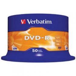 Диск DVD-R 50 Cake VERBATIM 4.7GB, 16X (43548)