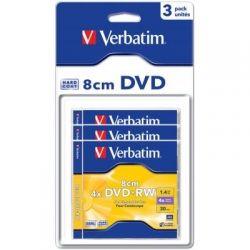 Диск DVD+RW mini Verbatim, 1.4Gb, 4x, 3 шт, Blister (43594)