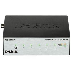 Коммутатор D-Link DGS-1005D 5port 1GBaseT METAL Case