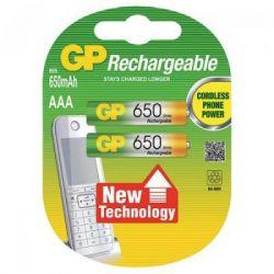 Аккумулятор AAA 650mAh * 2 GP (65AAAHC-U2)
