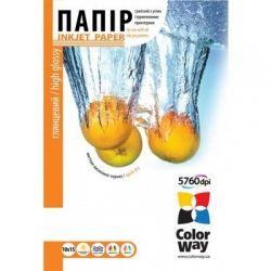 Бумага ColorWay глянцевая, 230 г/м2, A6 (10х15), 50 л, картонная упаковка (PG2300504R)