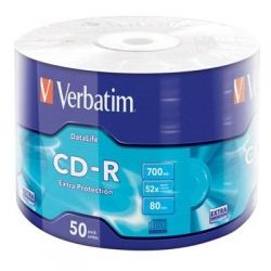 Диск CD-R 50 Verbatim, 700Mb, 52x, Extra, Wrap Box (43787)