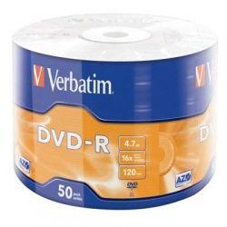Диск DVD-R 50 Bulk VERBATIM 4,7Gb, 16X Wrap (43788)