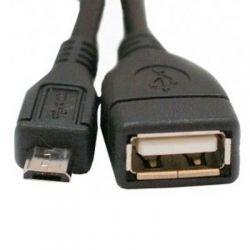 Дата кабель USB 2.0 Micro 5P to AF OTG 0.1m Atcom (3792)
