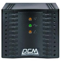 Стабилизатор Powercom TCA-600 черный ступенчатый, 300Вт, вход 220В+/-20%, выход 220V +/- 7%