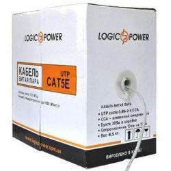 Кабель сетевой UTP 305м cat.5e КВП(4*2*0,48)[CCA] LogicPower (1770)
