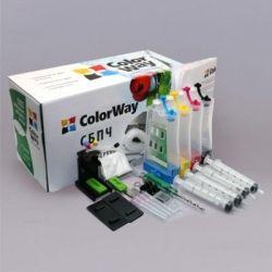 СНПЧ ColorWay Canon MG2140/2240/3140/3240/4140/4240, MX374/394/434/435/454/514/524, 4х50 г чернил (MG3140CN-4.5NC)