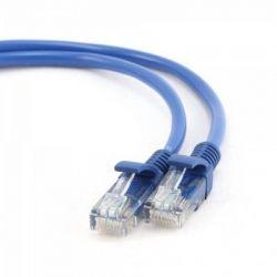 Патч-корд 0.25 м, UTP, Blue, Cablexpert, литой, RJ45, кат.5е / PP12-0.25M/B