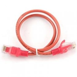 Патч-корд 0.25 м, UTP, Red, Cablexpert, литой, RJ45, кат.5е / PP12-0.25M/R