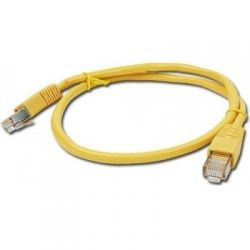 Патч-корд 0.25 м, UTP, Yellow, Cablexpert, литой, RJ45, кат.5е / PP12-0.25M/Y