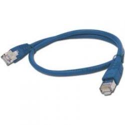 Патч-корд 0.5 м, UTP, Blue, Cablexpert, литой, RJ45, кат.5е / PP12-0.5M/B