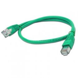 Патч-корд 1.0 м, UTP, Green, Cablexpert, литой, RJ45, кат.5е / PP12-1M/G