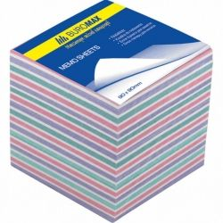 Бумага для заметок BUROMAX Zebra 90х90х70мм., unglued (BM.2269)