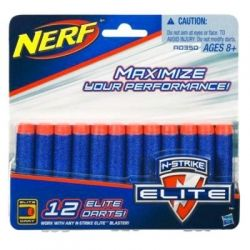 Игрушечное оружие Hasbro Нерф Патроны Элит, 12 шт (A0350)