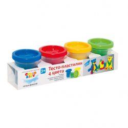 Набор для творчества GENIO KIDS Тесто-пластилин 4 цвета (TA1008)