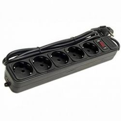 Сетевой фильтр питания PATRON 1.8m (SP-52), 5 розеток BLACK (EXT-PN-SP-52)