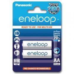 Аккумулятор AA, 1900 mAh, Panasonic Eneloop, 2 шт, 1.2V, Blister, ресурс - 2100 циклов заряда! (BK-3MCCE/2BE)