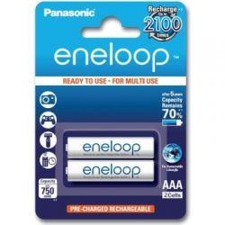 Аккумулятор AAA, 750 mAh, Panasonic Eneloop, 2 шт, 1.2V, Blister, ресурс - 2100 циклов заряда! (BK-4MCEE/2BE)