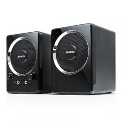 Акустическая система 2.0 SVEN 247 (black) Active system 2*2W speaker, mini-jack 3,5 + USB NEW!