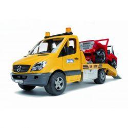 Спецтехника Bruder Эвакуатор Mercedes Benz Sprinter + джип, М1:16 (2535)
