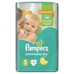 Подгузник Pampers Active Baby-Dry Junior (11-18 кг), 11шт (4015400647577)