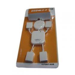 Хаб-юсб 2.0 Lapara LA-UH4372 4 порта, трансформер белый