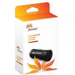 Зарядное для портативных устройств Florence USB black CC12-USB