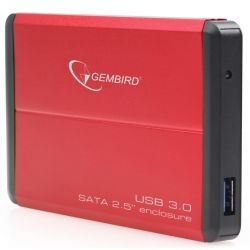 "Карман внешний 2,5"" Gembird EE2-U3S-2-R Red SATA USB3.0"