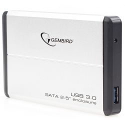 "Карман внешний 2,5"" Gembird EE2-U3S-2-S Silver SATA USB3.0"