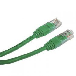 Патч-корд 1.5 м, UTP, Green, Cablexpert, литой, RJ45, кат.5е / PP12-1.5M/G