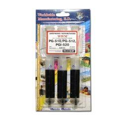 Заправочный комплект WWM Canon PG-510/PG-512 Black Pigmented (3x20 mll) IR3.C10/BP