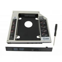 """Шасси Maiwo NSTOR-12 для подключ. 2,5"""" HDD/SSD SATA3 в отсек привода ноутбука толщ. 12,7 мм, алюм."""