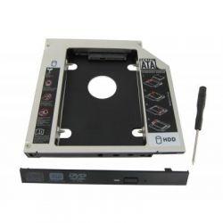 """Шасси Maiwo NSTOR-9 для подключ. 2,5"""" HDD/SSD SATA3 в отсек привода ноутбука толщ.9,5 мм, алюм."""